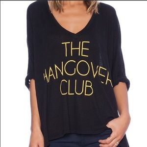 "NWOT Wildfox ""Handover Club"" Oversized Top"
